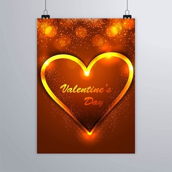 Golden poster with a heart