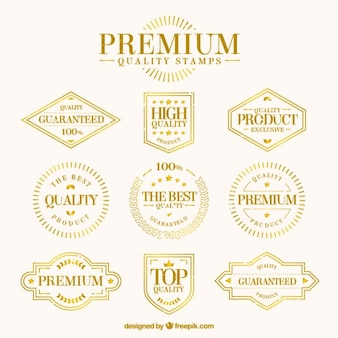 Golden premium quality stamps