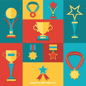 Golden prizes icons
