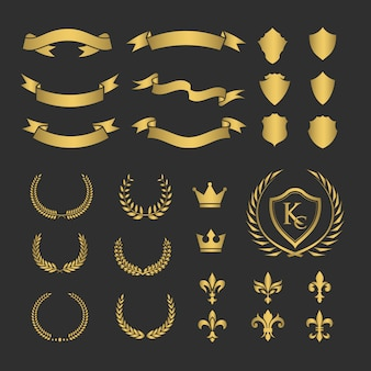 Golden ribbons collection