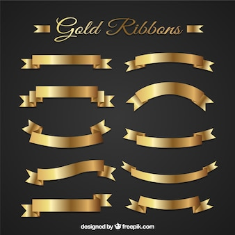Golden ribbons