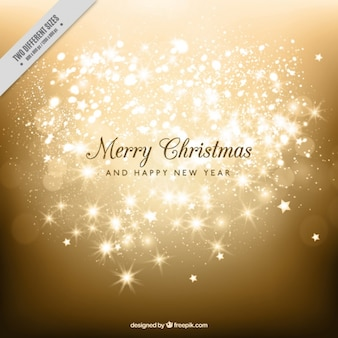 Golden shiny merry christmas and new year background
