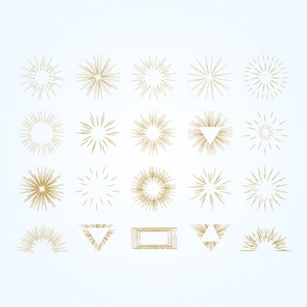 Golden sparkles collection