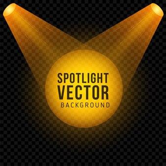 Golden spotlight