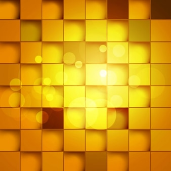 Golden square blocks background