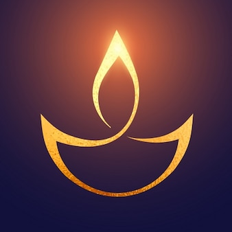 Golden symbol for diwali