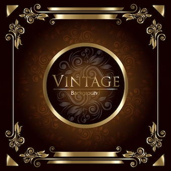 Golden vintage background