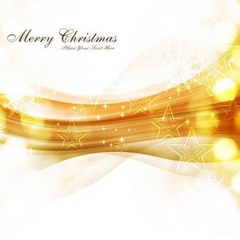 Golden wave christmas background