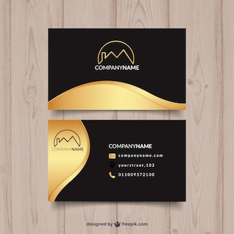 Golden wave visiting card