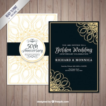 Golden wedding anniversary pack