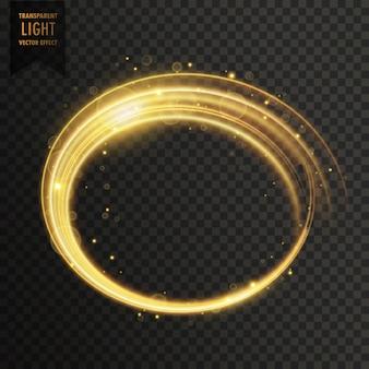 Golden white swirl light effect
