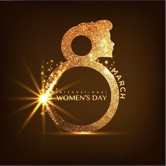 Golden women's day background