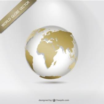 Golden world globe