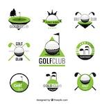 Golf club badges