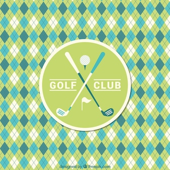 Golf rhombus pattern