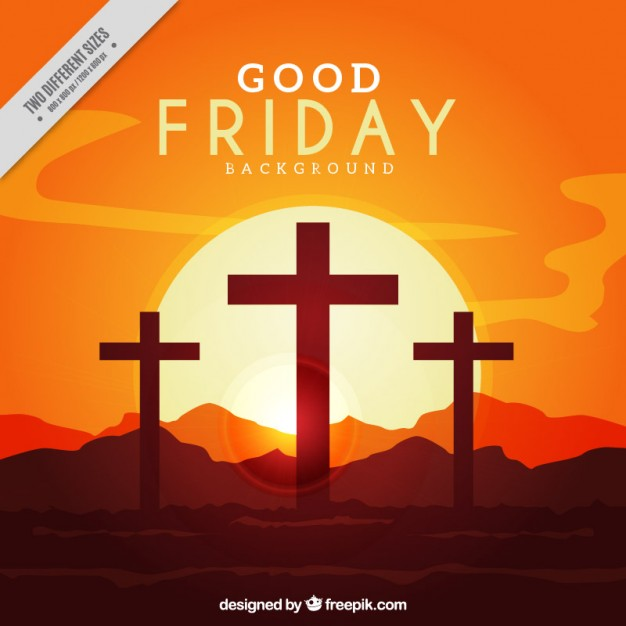 Good friday backlit background