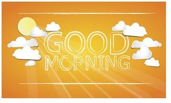 Good morning orange background