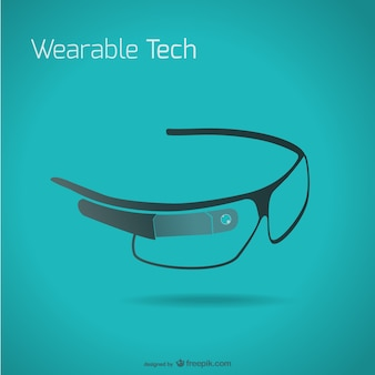 Google glasses vector template
