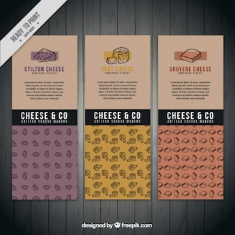 Gourmet cheese banners