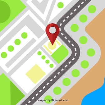 Gps background with pin map