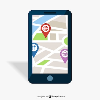 GPS mobile app vector design
