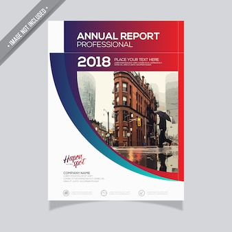 Gradient annual report design