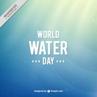 Gradient background of World Water Day