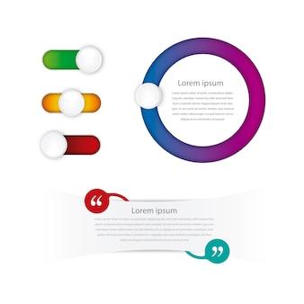 グラデーションのインフォグラフィックデザイン
