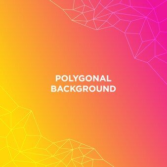 Gradient polygonal background