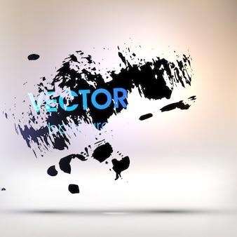 Graffiti drip blue background light