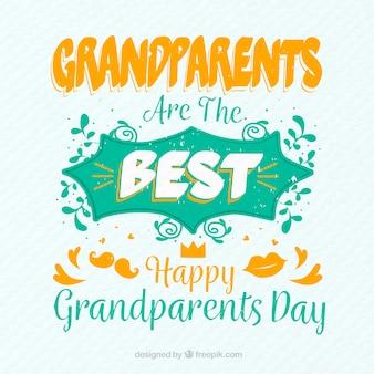 Grandparents day phrase in vintage style