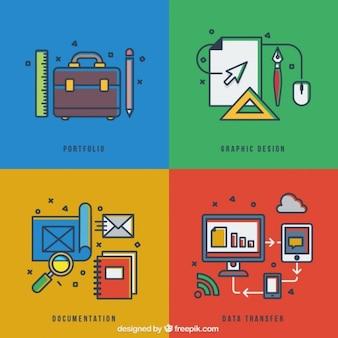 Graphic design steps