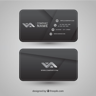 Gray abstract corporate card