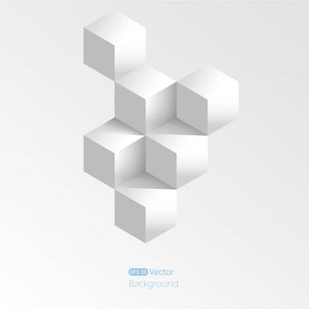 Gray background with 3d cubes