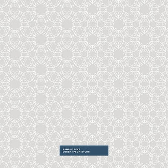 Gray background with a cute floral pattern