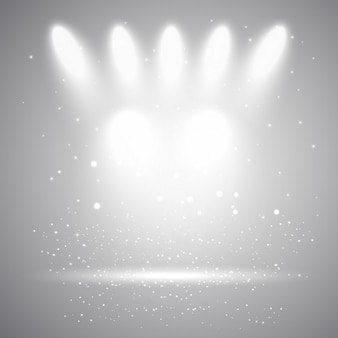 Gray background with lights