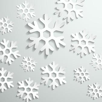 Gray background with white snowflakes