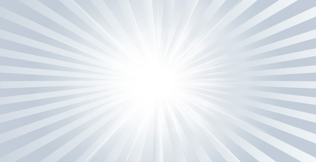 Gray glow shiny banner with rays bursting out