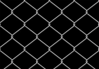 Gray metal grille on black background