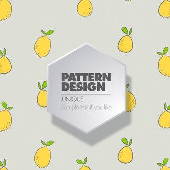 Gray pattern with lemons