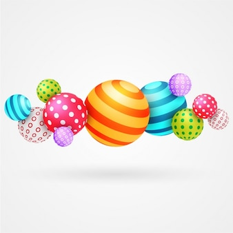 Great background of colorful balls