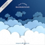 Great background of flat clouds in blue tones