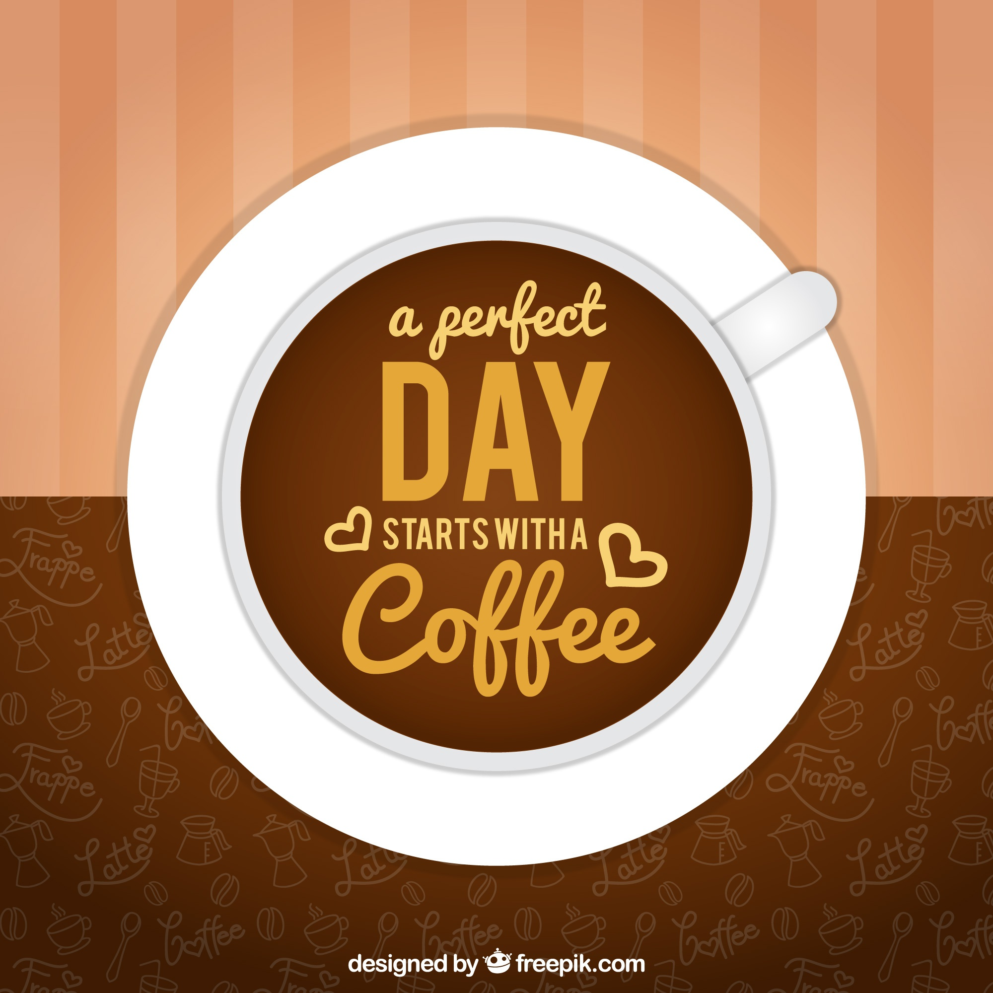 Great background with coffee cup and nice phrase