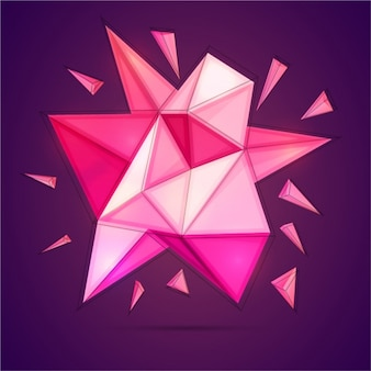 Great background with polygons in pink tones