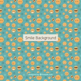 Great background with variety of emoticons
