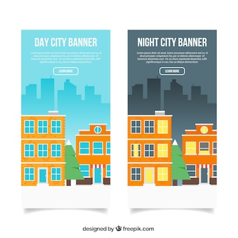 Great banners of cityscape