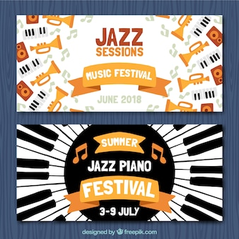 Great banners of jazz sessions