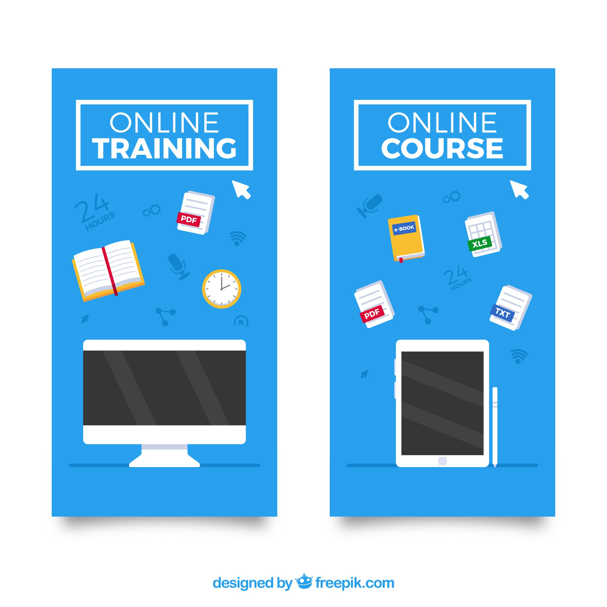 Great banners of online education