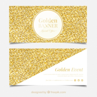 Great banners with golden confetti