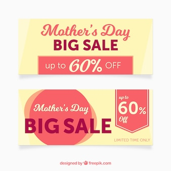 Great banners with offers for mother's day